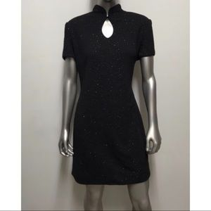 Vintage Black Dress By David Warren DW3